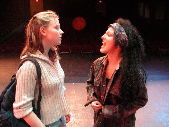 "Leighanna Edwards and Nadine Chiarito in John Angell Grant's play ""Recess"" at the Labor Day Theatre Festival in Belmont, CA"