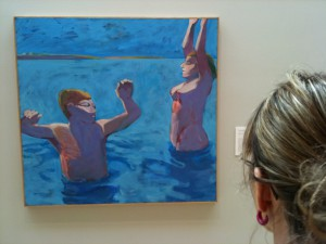 M and Cantor painting 2 bathers