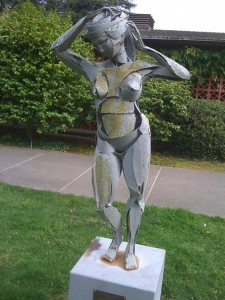 Nude library sculpture